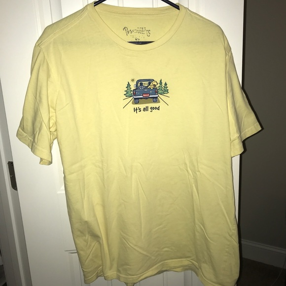 254f06ff28d Life Is Good Tops - Yellow life is good T-Shirt